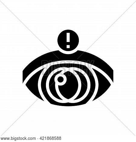 Vision Stroke Glyph Icon Vector. Vision Stroke Sign. Isolated Contour Symbol Black Illustration
