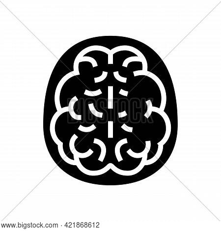 Mind Health Problem Glyph Icon Vector. Mind Health Problem Sign. Isolated Contour Symbol Black Illus
