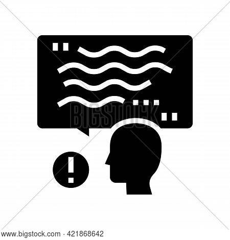 Talk Stroke Glyph Icon Vector. Talk Stroke Sign. Isolated Contour Symbol Black Illustration