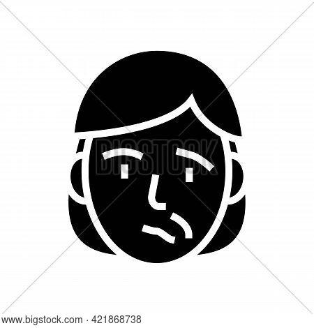 Face Stroke Glyph Icon Vector. Face Stroke Sign. Isolated Contour Symbol Black Illustration