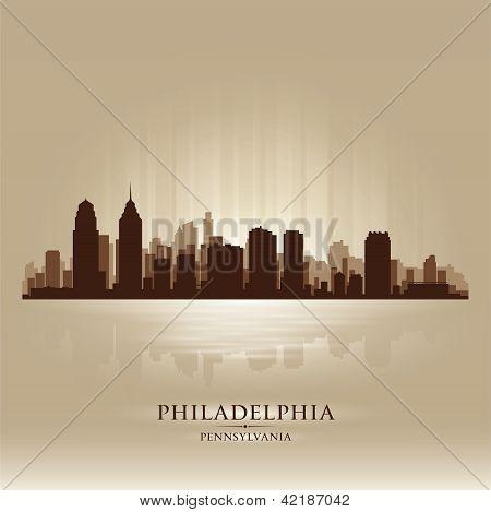 Philadelphia, Pennsylvania Skyline City Silhouette