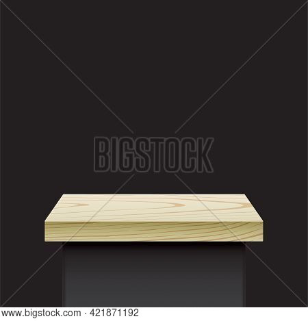 Elegant Style Black Stand With Wooden Cover.
