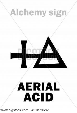Alchemy Alphabet: Aerial Acid -- Mean: Carbonic Acid (before 1800s), Also: Cretaceous Acid, Syn.: Ac