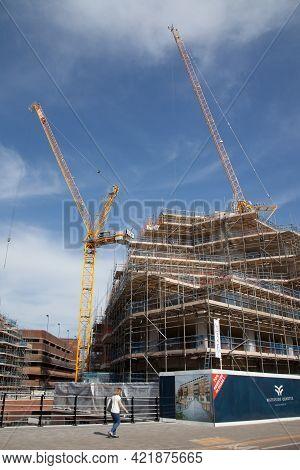 Construction Underway In Maidenhead, Berkshire In The Uk, Taken 30th March 2021
