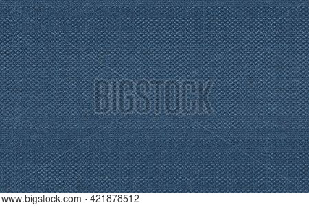 Blue Fabric Book Cover Texture. Old Book Cover Close Up, Full Frame Texture With A Seamless Repeatin