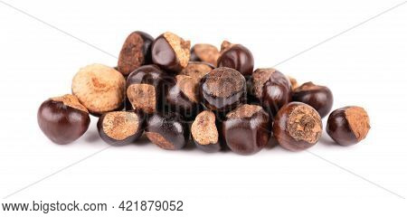 Guarana Seed Isolated On White Background. Dietary Supplement Guarana, Caffeine Cource For Energy Dr