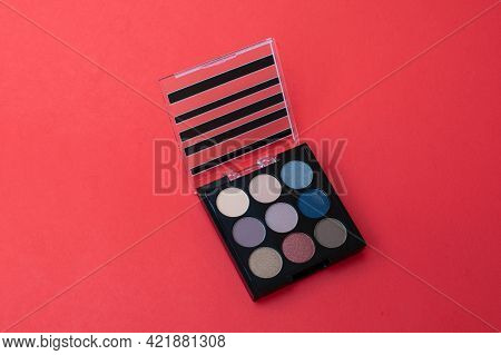 Palette With A Multicolored Eyeshadows Glamour Makeup