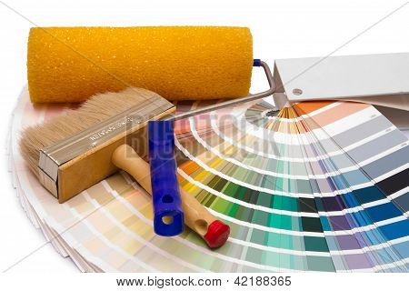 The Painting Platen And Brush