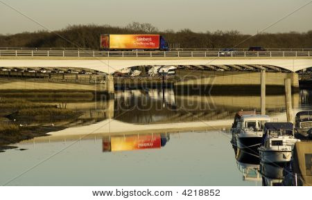 Motorway Bridge Reflection