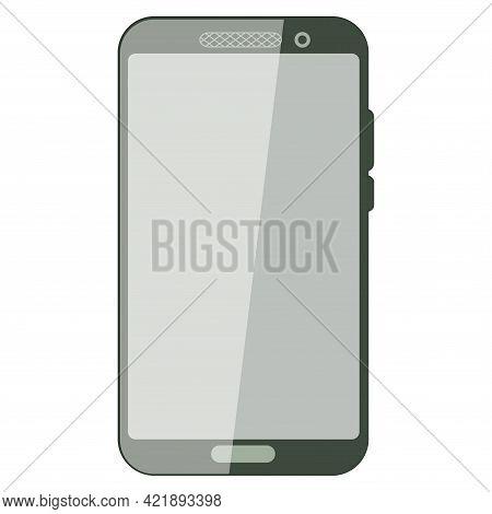 Simple Smartphone Wit Empty Screen. Realistic Smartphone Mockup. Device Ui, Ux Mockup For Presentati