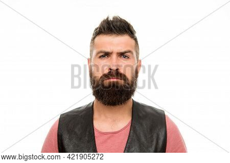 Facial Hair Treatment. Masculinity Brutality And Beauty. Hipster With Beard Brutal Guy. Masculinity
