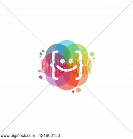 Colorful Fun Coding Logo Vector, Technology Logo Designs Template, Design Concept, Logo, Logotype El
