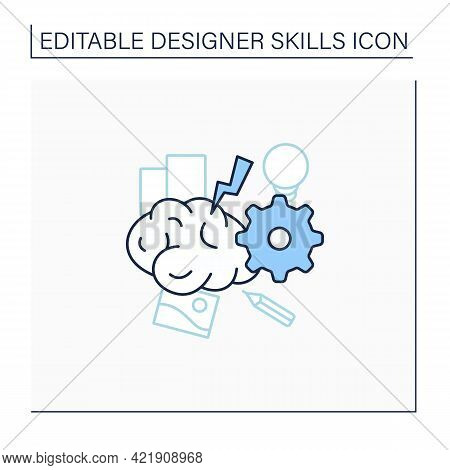 Brainstorming Line Icon. Relaxed, Informal Approach To Problem Solving With Lateral Thinking. Exchan