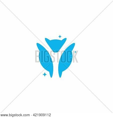 Initial Letter Y Swoosh Orbit Logo Designs Vector, Y Initial Logo For Kids Logo Template In Blue Bac