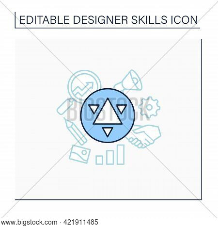 Branding Line Icon. Create Brand Identity. Special Label, Image. Designer Skills Concept. Isolated V