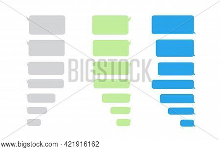 Message Bubbles Chat Icon On White Background. Template For Messenger Chat Box. Vector Illustration