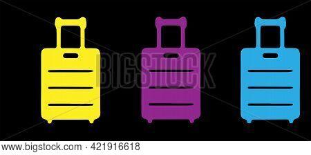 Baggage Icon Isolated On Background , Voyage, Web, White, World