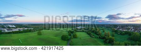 Aerial Panoramic View Of The Moredon Area Of  Swindon, Wiltshire