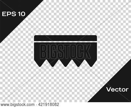 Black Sponge With Bubbles Icon Isolated On Transparent Background. Wisp Of Bast For Washing Dishes.