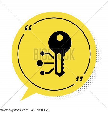 Black Cryptocurrency Key Icon Isolated On White Background. Concept Of Cyber Security Or Private Key