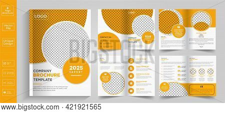 New Clean And Simple Brochure Template Layout,minimal Business Brochure Template Design.yellow Busin