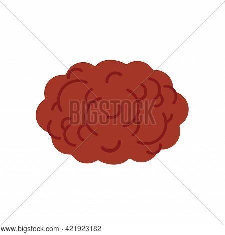 Meatball Isolated Cartoon. Meatballs Foot Vector Illustration