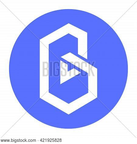 Band Protocol Band Token Symbol Cryptocurrency Logo, Coin Icon Isolated On White Background. Vector