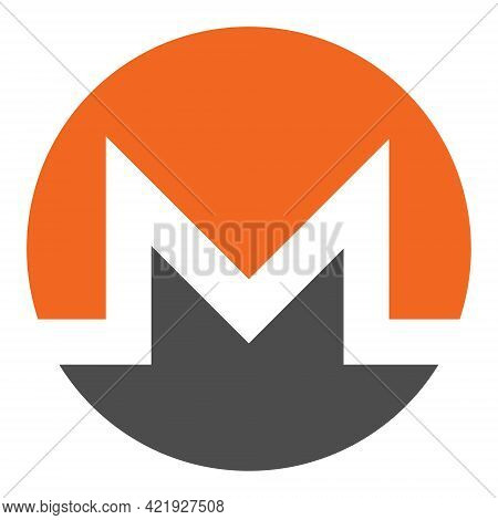Monero Xmr Token Symbol Of The Defi Project Cryptocurrency Logo, Decentralized Finance Coin Icon Iso