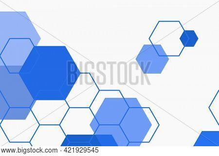 Blue hexagonal patterned background wallpaper