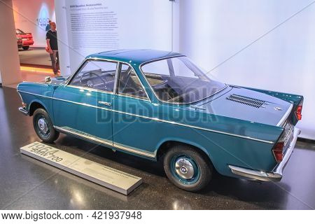 Germany, Munich - April 27, 2011: The Bmw 700 Microlitre Car In The Exhibition Hall Of The Bmw Museu