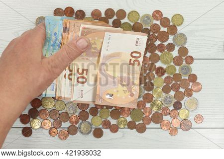 Euro Currency Handle Count Money  Euro Currency Handle Count Money