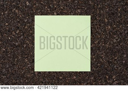 Blank Note Paper Lay On A Noticeboard With Copy Space For Text, Top View In High Quality Resolution,