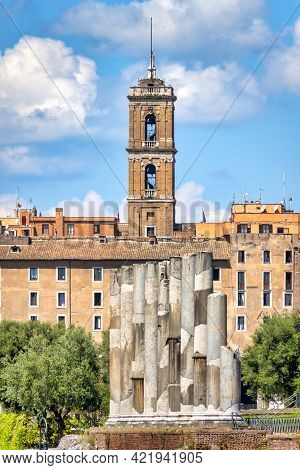 Rear View Of The Campidoglio From The Roman Forum, Rome Italy