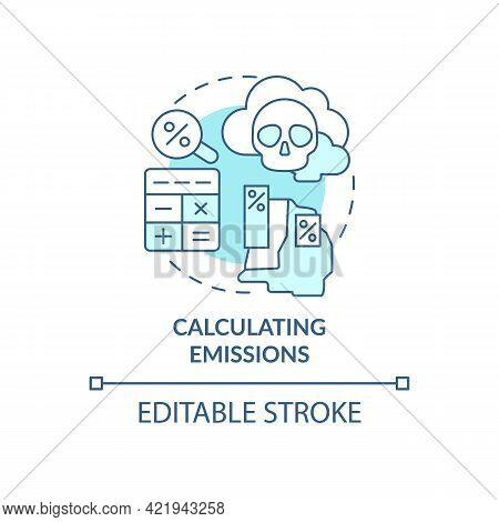 Calculating Emissions Concept Icon. Carbon Offsetting Abstract Idea Thin Line Illustration. Emission