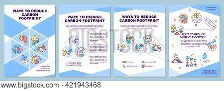 Carbon Footprint Reduction Ways Brochure Template. Climate Change. Flyer, Booklet, Leaflet Print, Co