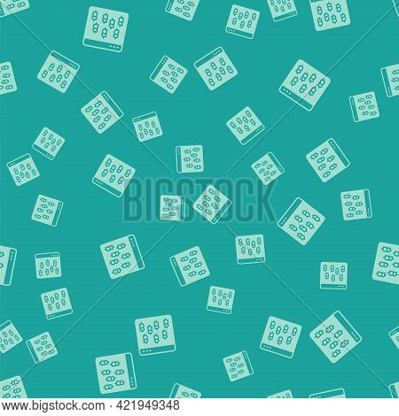 Green Cryptocurrency Coin Bitcoin Icon Isolated Seamless Pattern On Green Background. Physical Bit C