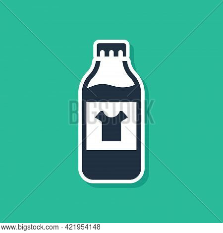 Blue Plastic Bottle For Laundry Detergent, Bleach, Dishwashing Liquid Or Another Cleaning Agent Icon
