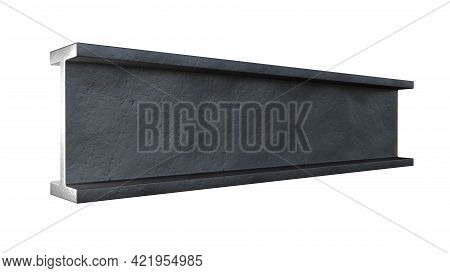 H-beam Rolled Metal, Isolated Digital Industrial 3d Rendering