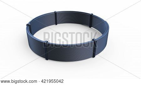 Steel Wire Skein For Rebar Tying. Isolated Industrial 3d Illustration