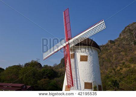 Swiss Sheep Farm Windmill1