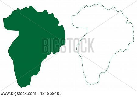 Hingoli District (maharashtra State, Aurangabad Division, Republic Of India) Map Vector Illustration