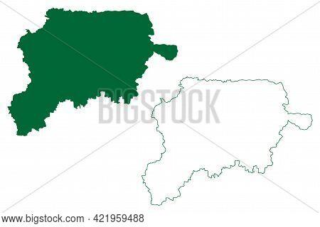 Jalgaon District (maharashtra State, Nashik Division, Republic Of India) Map Vector Illustration, Sc