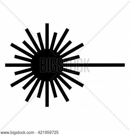 Beware Laser Beam Symbol Sign Isolate On White Background