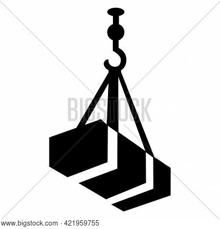 Beware Overhead Load Symbol Isolate On White Background