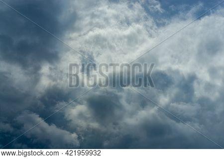 Sky Texture In Deep Dense Clouds High Contrast General Plan