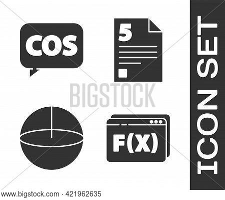 Set Function Mathematical Symbol, Mathematics Function Cosine, Geometric Figure Sphere And Test Or E