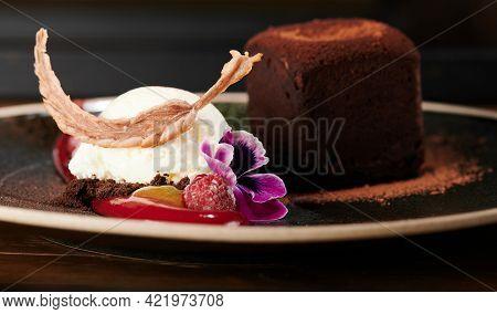 Ice Cream With Flower