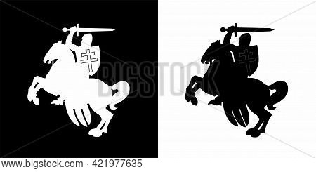 Variants Of Icons Of A Rider On A Horse From The Coat Of Arms Of The Republic Of Belarus In 1991 - 1