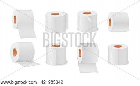 Toilet Paper Towels Roll For Bathroom, Restroom.