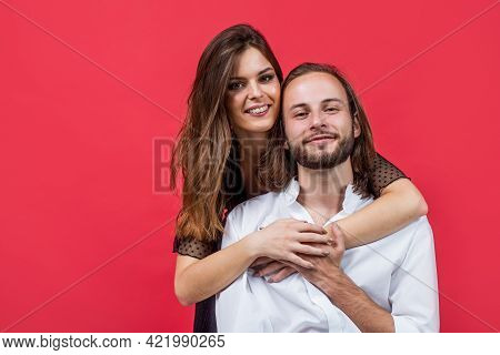 Life Together. Cheerful Couple In Love. Romantic Relations Of Man And Woman. Love In Action. Romance